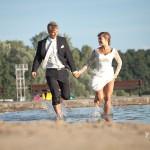 Fotografia ślubna FotoIntro - plener ślubny nad jeziorem