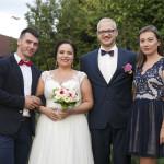 Sesja w ogrodzie - wesele Marty i Rafała_13